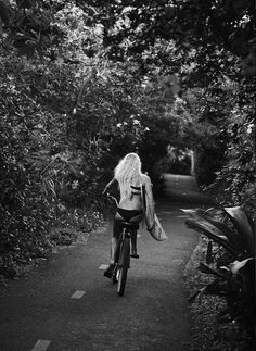 Surf Girl on the Bike  |  #photography  #surf