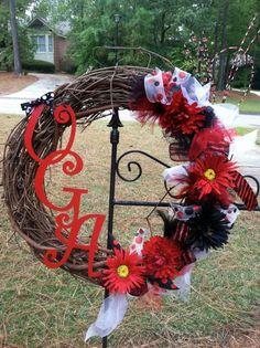 Georgia Bulldogs UGA Wreath by mountainridgedesigns on Etsy, $69.00