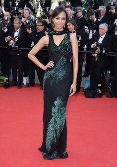 Zoe Saldana in Jason Wu at Cannes 2014