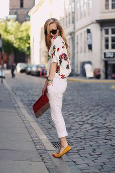 white with pops of colour