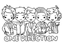 One direction chibi drawing so adorable