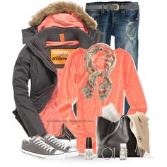 """I Love Color in The Winter"" by shannonmarie-94 on Polyvore"
