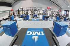 Time to work. IMG Academy weight room.