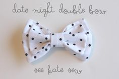 DIY Bow Crafts: DIY Double Bows