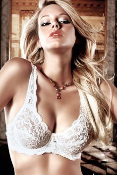 White Lace Demi Bra at www.Liesels.com #KyFun