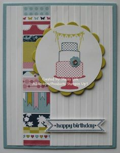 ... paper craft circl cakes itti bitti bitti banner card cake itti banners