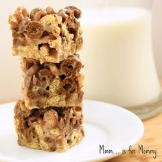 Chocolate peanut butter cheerio cereal treats