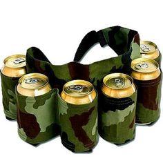 Six Pack Camo Belt | Drinking Gear | Bar & Drinking Gifts | FunSlurp.com