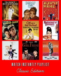9 Classic Films available to watch instantly on Netflix