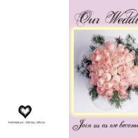 Printable Peach Rose Wedding Invitation - FreePrintable.com