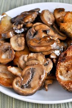 Caramelized Chicken with Mushrooms