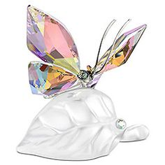 butterfli figurin, swarovski sparkl, butterflies, crystal butterfli, swarovski figurin