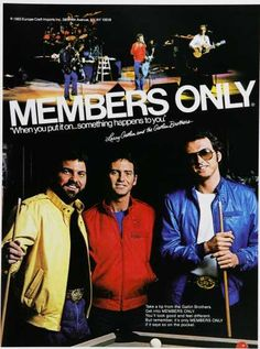 Sweet Members Only jackets. (1980s)