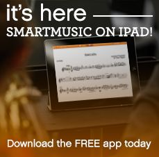 SmartMusic is available on an iPad near you! Download it now on the Apple App Store.