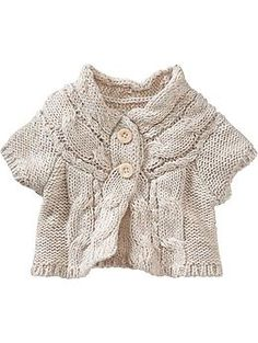 Cable-Knit Short-Sleeve Cardis for Baby | Old Navy  19.94