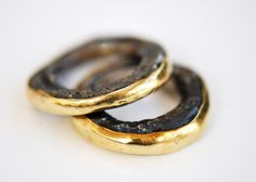 Disa Allsopp - 18kt Gold and Oxidised Silver rings