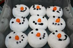 Frosty the Snowman Donuts