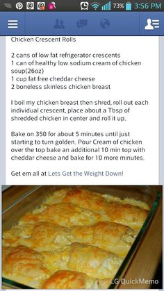 Chicken crescent rolls