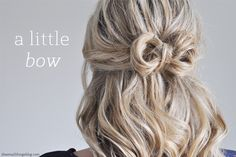The Small Things Blog: a little bow hair tutorial , hair, hair tutorial, hairstyle, #hair