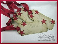 Star Tags by sandi MacIver using the Two Tags Die and the Stars #2 Die for the Big Shot Machine
