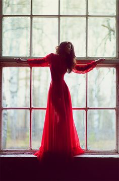red fashion, dress fashion, gala dresses, the dress, silhouettes, windows, gown, light, style clothes