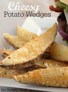 Cheesy Potato Wedges from Six Sisters' Stuff