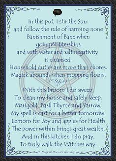 Kitchen witch, Magickal Moonie's Sanctuary