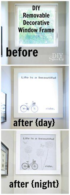 DIY Removable Decorative Window Frame Tutorial