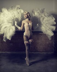 #Burlesque #Inspiration - Manina Productions Event Designer pointe shoes, burlesque costumes, star, corset, beauty, ballet, fan, feather, blossoms