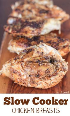 Slow Cooker Chicken Breasts - moist and flavorful chicken in the slow cooker!