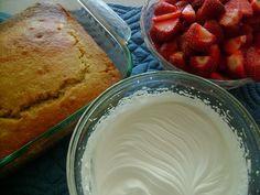 shortcake using ww flour, baking powder, eggs, honey coconut oil, vanilla, coconut milk.