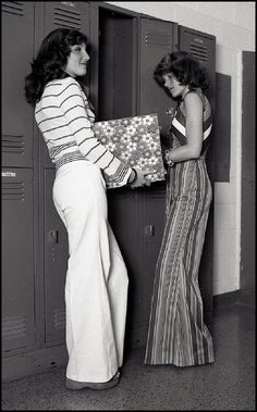Fashionable '70s students.