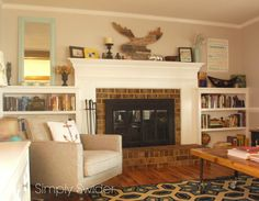 Fireplace Makeover Part 2: Painting Brass Fireplace Doors and Tools