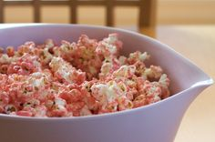 Pretty Pretty Princess Pink Party Popcorn — Erin Cooks but lavender of course