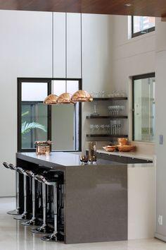 Kitchen / Void Lights, by Tom Dixon / Copper