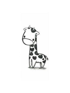 Cute giraffe drawing <3