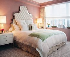 I am in love with this lighting and headboard!