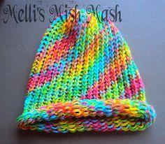 Cool rainbow loom hat