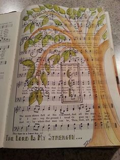 hymnbook turned art journal