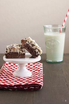 Cookie Dough Brownies   Handle the Heat