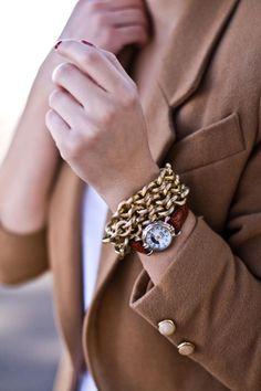 Classic watch, classic bracelet, classic blazer.