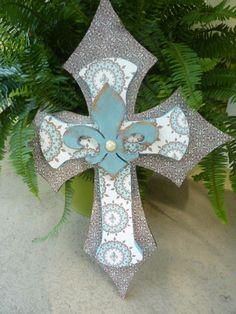 Decorative wooden cross.