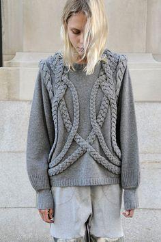 rope, fashion styles, knit sweaters, knitting, plait
