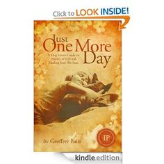 Just One More Day by Geoffrey Bain is a must-read for those about to lose their pet or those that are grieving the loss of a pet, in particular the death of a dog.