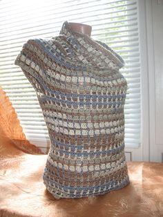 ! ♪ ♪ ... #inspiration #diy GB sidney artesanato, knit crochet, idea knit, crotchet sweater, maglia crochet, pulôver charmoso, raglan top, crochet tops, crochet cloth