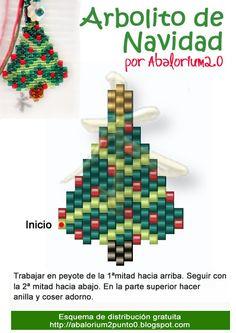 Peyote Christmas tree pattern