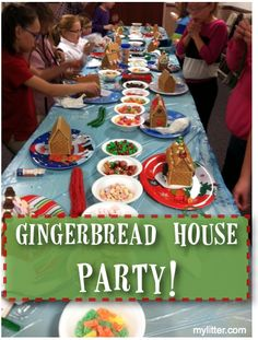 Hosting a GingerBread Party for Kids!