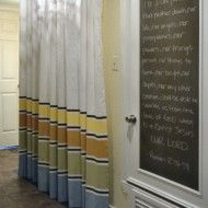Painted Curtain Panels