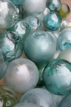 Antique Japanese Glass Fishing Floats  sphere collection