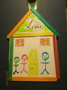 As for me and my house we will serve the Lord (Joshua 24:15) Sunday School Craft